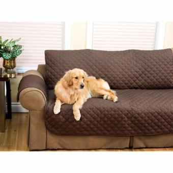 Couch Coat Recliner Cover Long Set of 3 (Brown) - 3