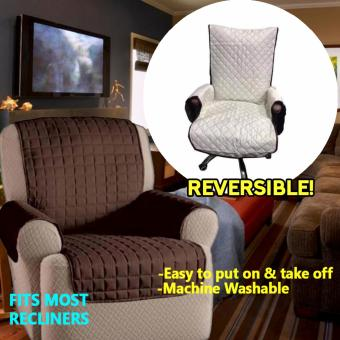 Couch Coat Recliner Reversible Cover (Brown)