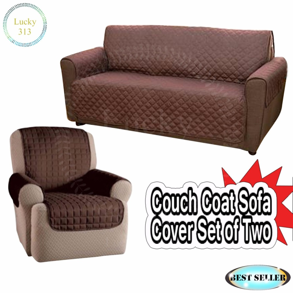 ... Couch Coat Reversible Washable Sofa Cover Plus Couch Coat Single ...