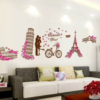 Cozy bedroom wall living room TV Tower wall adhesive paper