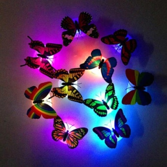 Creative Color Butterfly LED Lights a t Night Free Design - intl - 2