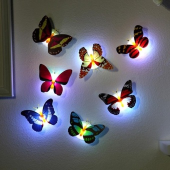 Creative Color Butterfly LED Lights a t Night Free Design - intl - 3