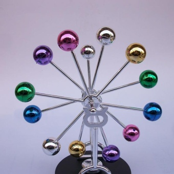 Creative Colorful Ferris Wheel Electromagnetic Pendulum PerpetualInstrument Model Office Desktop Decorations Home FurnishingArticles Decorative Ornaments - intl - 4