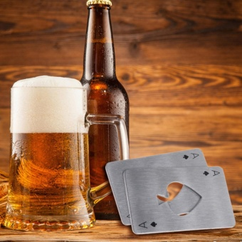 Creative Poker Card Beer Bottle Opener Funny Stainless Steel CardOf Spades Bar - intl - 2