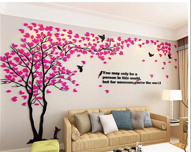Philippines | Creative Tree 3d Stereo Acrylic Wall Stickers Living ...