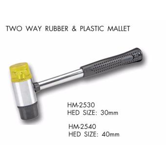 CRESTON TWO WAY RUBBER AND PLASTIC MALLET(30MM)