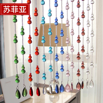 Crystal gourd bathroom living room decorative curtain bead curtain
