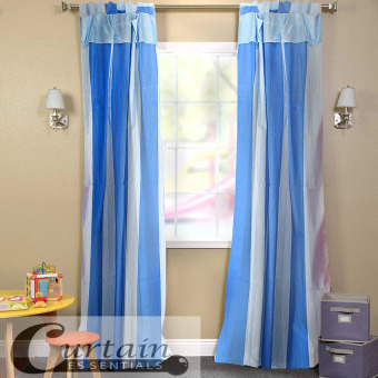 Curtain Essentials Carvey Curtain (Blue) Single Panel