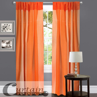 Curtain Essentials Carvey Peach Single Panel