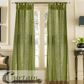 Curtain Essentials Chimalis Curtain (Sea Green) Single Panel
