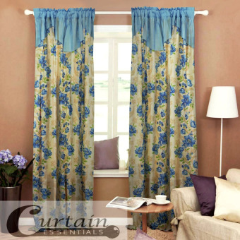 Curtain Essentials Daffodil Blue Single Panel