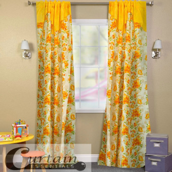 Curtain Essentials Daffodil Yellow Single Panel