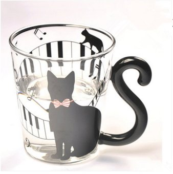 Cute Creative Cat Kitty Glass Mug Cup Tea Cup Milk Coffee Cup Music Price Philippines