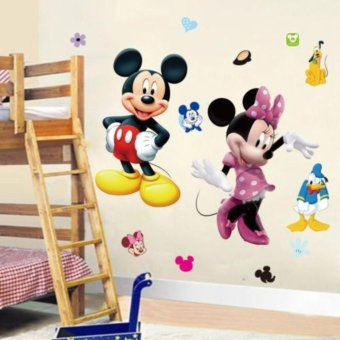 Cute Mickey Minnie Mouse Wall Sticker Vinyl Decal Kids Baby RoomDecor Mural DIY - intl - 2
