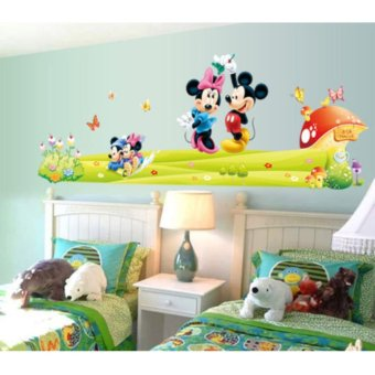 Cute Mickey Minnie Mouse Wall Sticker Vinyl Decal Kids Baby RoomDecor Mural DIY - intl