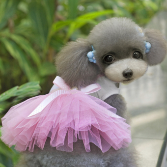 Cute Puppy Pet Dog Dress Lace Skirt Princess Dress Small Medium Dog Pink S - picture 2