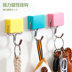 Cute strong magnetic home traceless refridgerator magnets iron adhesive hook Philippines