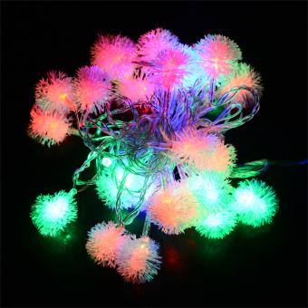 Cyber 5M 28 LED Fuzzy Ball String Fairy Light Christmas Xmas Party Wedding Decoration 100-220V EU Plug - picture 2