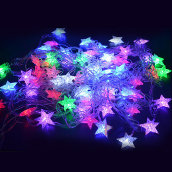 Cyber 5M 28 LED Pentagram String Fairy Light Christmas Xmas Party Wedding Decoration 100-240V (White)