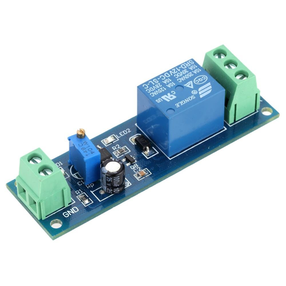 Dc 12v Delay Relay Time Turn On Off Vibration Switch Module Intl Channel Summerfuel Robotics 0 10s