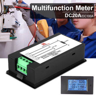 DC100V 100A LCD Digital Volt Watt Current Power Meter Ammeter Voltmeter BI509