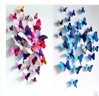 Decorative Butterfly model 3d wall stickers