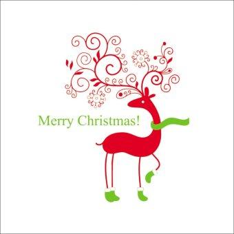Deer Merry Christmas Pvc Diy Vinyl Mural Wall Sticker Poster Removable Home Decor Art Decals Window - Intl