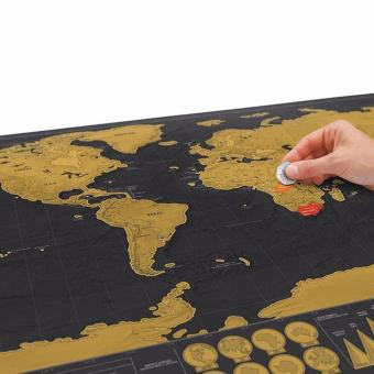 Deluxe Travel Edition Personalized Journal Scratch Off World Map Poster - intl - 3