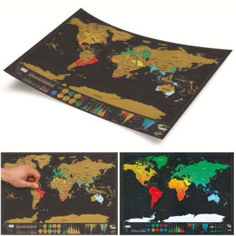 Where to buy deluxe travel edition scratch off world map poster deluxe travel edition scratch off world map poster personalizedjournal log gift 2 gumiabroncs Gallery