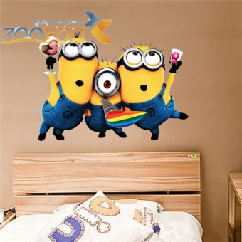 Despicable me 2 cute minions wall stickers for kids roomsdecorative adesivo de parede removable pvc wall decals - intl