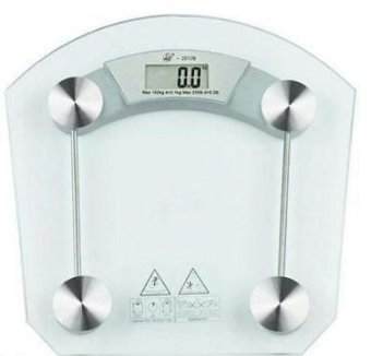 Amazing Digital LCD Electronic Tempered Glass Bathroom Weighing Scale