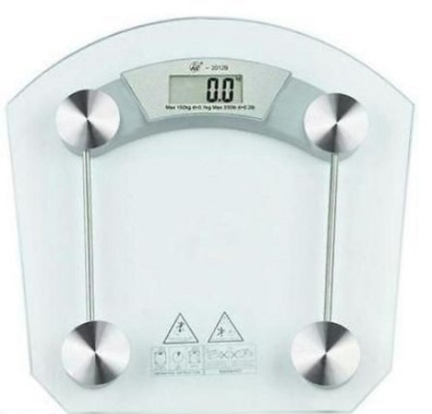 Digital Lcd Electronic Tempered Glass Bathroom Weighing Scale 8mm Square