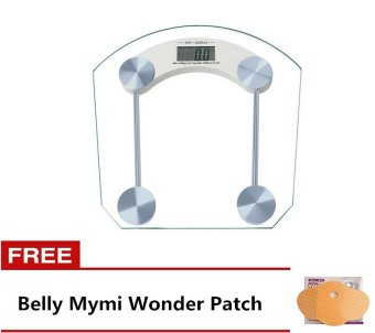 Digital LCD Electronic Tempered Glass Bathroom Weighing Scale 8mmSquare Free Belly Mymi Wonder Patch
