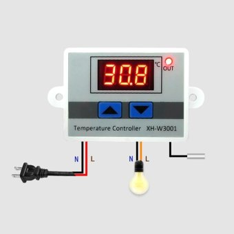 Digital Temperature Controller 10A 220V Thermostat Control Switch Multifunction - intl