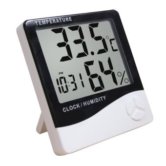 Digital Thermometer and Hygrometer with Clock (Big Display)