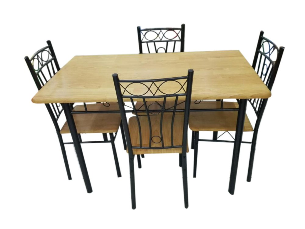 Dining table and chair set ds 4 1 beech philippines - Seat dining table sets ...
