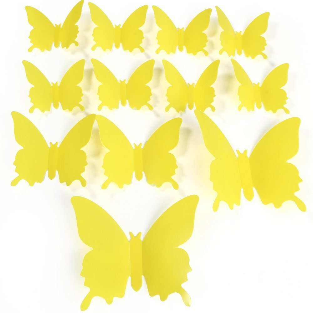 Philippines | DIY 3D Butterfly Wall Stickers Mirror Art Decal PVC ...