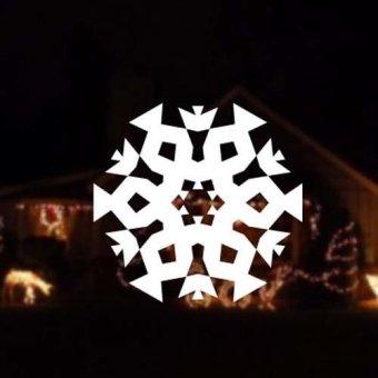 DIY Snowflake sticker Merry Christmas wall sticker home decor shop store White (Intl)