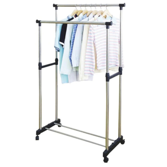 DIY2n Double Pole Stainless Steel Clothes Rack
