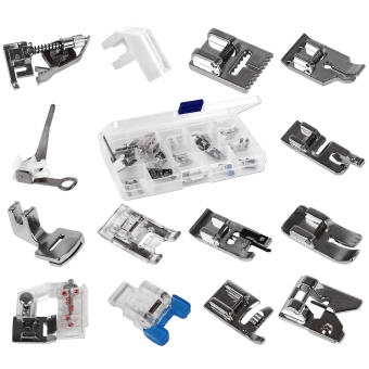 Domestic Sewing Machine Set of 14 Silver