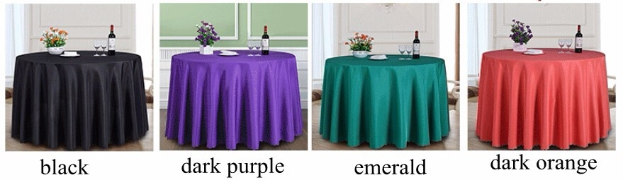 DOTEC Solid Color 100% Polyester Round Table Cover Fabric SquareDining Table  Cloth Tablecloth Hotel Office ...