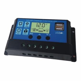 Dual USB 12V/24V Solar Panels Charge Controller Regulator 20A - intl - 2