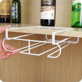 Durable Stainless Steel Kitchen Bar Champagne Wine Glasses Holder Goblet Rack Wall Hanging Cup Storage - intl - 2