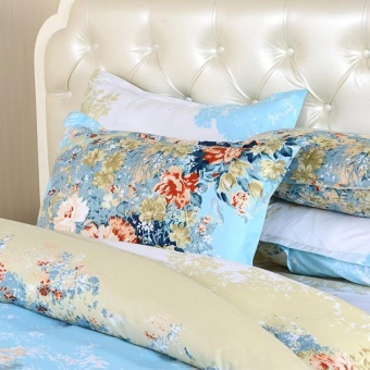 Duvet Cover Set Winter Comforter Blue Cover Bedsheet Pillowcase3/4Piece Bedding Sets Twin Full Queen Size Polyester With Cotton - intl - 2