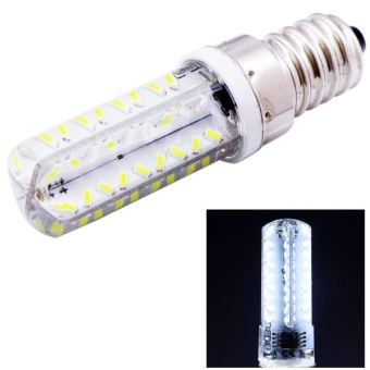 E14 3.5W 200-230LM 72 LED SMD 3014 Corn Light Bulb, Adjustable Brightness, AC 110V(White Light) - intl