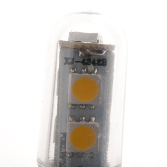 E14 7LED 5050SMD 1W/220V Candle Light Lamp Home Fridge Bed Corn Bulb Warm White - 5