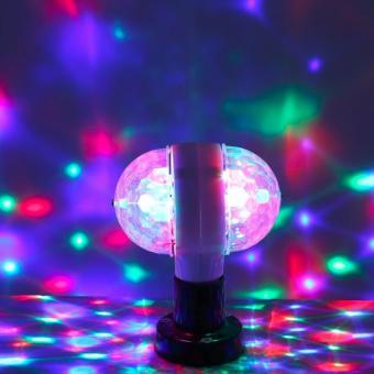 E27 3W LED double-sided color rotating bulb Crystal Stage Light Christmas lights - 4