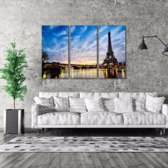 Easy Art Triptych 3-piece City of Paris Premium Canvas Art