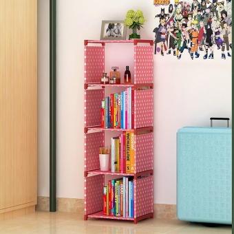 Easy Shelf Multi Function Non Woven Dustproof Bookcase Childrens Bookshelves  Kids Room Storage Rack Kitchen Bathroom Shelf   Intl Philippines