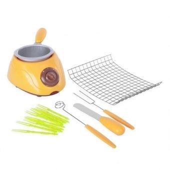 Electric Chocolatiere Chocolate Melting Pot Machine Set (Yellow) - picture 2